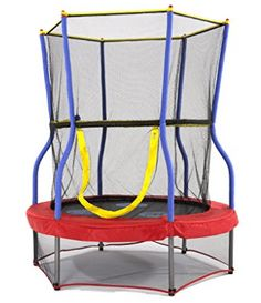 One of our Best Kids Trampolines of the Year, Check out the Skywalker Trampolines Mini Bouncer Kids Trampoline with Safety Enclosure, Padded Handle Bar and Fun Learning Play - 40 inch, 48 inch, 60 inch : Sports & Outdoors Enclosed Trampoline, Small Trampoline, Trampoline Reviews, Backyard Trampoline, Trampolines, Professional Trampoline, Steel Frame Construction, Big Kids, Mini
