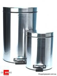 12L  3L Stainless Steel Waste Dust Bins with Pedal