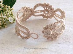 Bracciale e Segnalibro a crochet. Schema. Pattern. Handmade