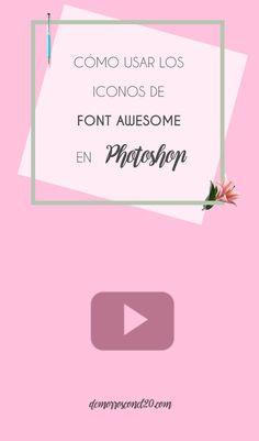 Cómo usar los iconos de Font Awesome en Photoshop  #fontawesome #photoshop
