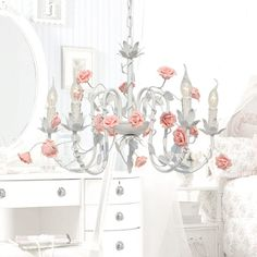 332.00$  Buy here - http://ali9lt.worldwells.pw/go.php?t=32297659318 - 2015 Hot Modern chandelier living room lights candle lights garden flowers roses flowers lamp bedroom lamp iron lamp