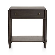 Barnes Smoke Brown Nightstand | Crate and Barrel