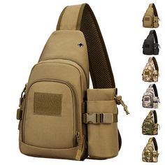 c7a8c618f376 Nylon Casual Travel Tactical Army Camouflage Riding Bag Sling Bag Gym Bag  Crossbody Bag For Men is hot-sale