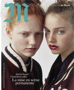 Le Monde M Magazine April 2016 Cover (M Le magazine du Monde) Beauty Photography, Fashion Photography, Img Models, Selfie, The Smoke, Adolescence, Creative Director, Stylists, Cover