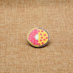 Donut Pizza Enamel Pin Lapel Pin