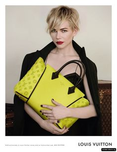 Michelle Williams's Fall 2013 Louis Vuitton Handbag Campaign: Michelle Williams photographed by Peter Lindbergh. Photo courtesy of Louis Vuitton Michelle Williams, It Bag, Louis Vuitton Online, Louis Vuitton Handbags, Vuitton Bag, Lv Handbags, Designer Handbags, Replica Handbags, Peter Lindbergh