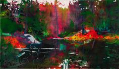 """LAST DAYS OF SUMMER, URETHANE ON BOARD 35"""" X 60"""", BY STEVE DRISCOLL 2016"""