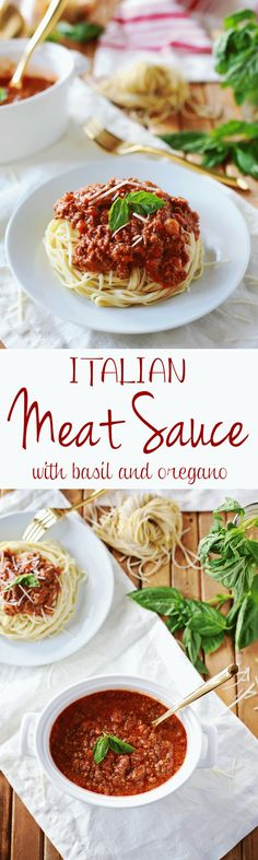 """Italian Meat Sauce """"Ragu Bolognese"""" recipe by Flirting with Flavor. Easiest and most Delicious Meat Spaghetti Sauce ever!!!"""