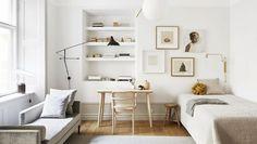 38 Small Home Office Inspiration with Scandinavian Style Interior Design Minimalist, Interior Modern, Minimalist Decor, Home Interior Design, Minimalist Office, Modern Minimalist, Home Office Design, Home Office Decor, House Design
