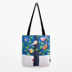"Our quality crafted Tote Bags are hand sewn in America using durable, yet lightweight, poly poplin fabric. All seams and stress points are double stitched for durability. Available in 13"" x 13"", 16"" x 16"" and 18"" x 18"" variations, the tote bags are washable, feature original artwork on both sides and a sturdy 1"" wide cotton webbing strap for comfortably carrying over your shoulder. Tree Art, Poplin Fabric, Hand Sewn, Original Artwork, Diaper Bag, Cool Outfits, Stress, Reusable Tote Bags, America"