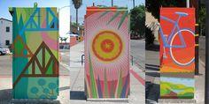 IOANA: Wrigley Village Traffic Light Utility Box Murals on Pacific Ave