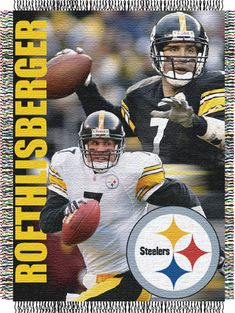Ben Roethlisberger Pittsburgh Steelers NFL Players Woven Tapestry Throw 81a8588a5