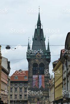 Jindrisska Tower in Prague royalty-free stock photo