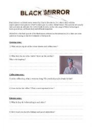 English worksheet: Black Mirror - Nosedive - Worksheet on social networks Black Mirror, Esl Lessons, Class Activities, Teaching Materials, Teaching English, Creative Writing, Social Networks, Science And Technology, Chemistry