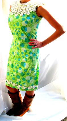 Vintage Lilly Pulitzer Springtime ShiftBlue Green by tessiemay, $78.00