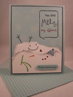 Snow Day Anniversary Card