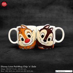 "Disney Chip & Dale Friends Face-part Orange Color "" Pair Mug "" Disney Coffee Mugs, Disney Mugs, Pretty Mugs, Disney Figurines, Chip And Dale, Cute Cups, Soup Mugs, Tea Cup Set, Disney Merchandise"