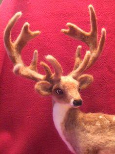 Reindeer Sculpture Artist Needle Felted Reindeer by LaCharmour on Etsy