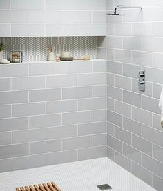Beautiful Farmhouse Bathroom Design and Decor Ideas You Will Go Crazy For Tags: Small bathroom ideas Small bathroom remodel Master bathroom ideas Shower ideas bathroom Guest bathroom Master bathroom remodel Small Bathroom, Shower Alcove, Shower Room, Bathroom Inspiration, Bathroom Shower Tile, Bathroom Remodel Master, Bathroom Redo, Master Shower, Laundry In Bathroom