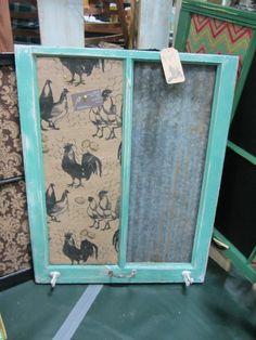 Reclaimed old Window 25x32 Shabby Chic JADE frame by EightySix56