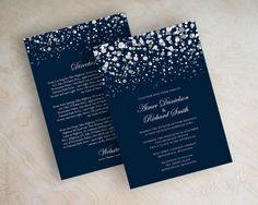 Polka dot wedding invitation modern snow snowfall by appleberryink, $47.00