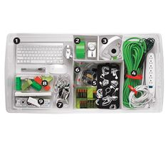 We're on RealSimple.com today! Organized electronics bin l Kable Flags $7.49 http://www.organize.com/kableflagscomp.html