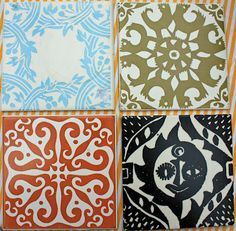 selection of Tiles by Peggy Angus for Carters Poole