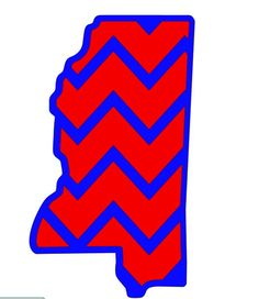 Mississippi Outline Decal with Chevron 3 default sizes and custom sizes available Ole Miss Decal, Computer Decal, Car Decal by FransEverythingShop on Etsy