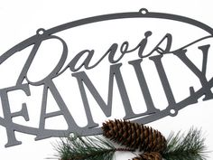 Custom Metal Outdoor Name Sign - Silver, 20x10 by Refined Inspirations