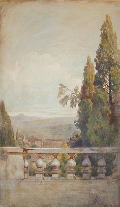 painted landscape wall mual ~ grandtivoliB