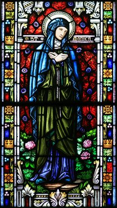 St. Monica stained glass