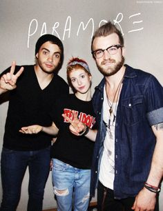 Paramore ~ Hayley Williams, Jeremy Davis and Taylor York