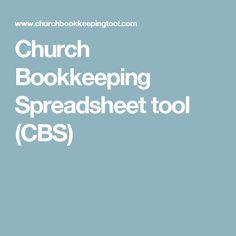 Church Bookkeeping Spreadsheet tool (CBS)