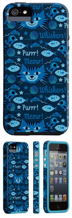 Spring 2013 smart phone cases for Case-mate by Tad Carpenter cat pattern