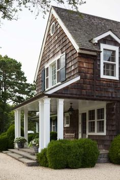 Curb appeal on pinterest curb appeal white for Cedar shake cottage