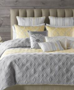 Would love for our bedroom - Bryan Keith Bedding, Tango 9 Piece Comforter Sets - Bed in a Bag - Bed & Bath - Macy's Bedroom Sets, Comforter Sets, Home, Cheap Bed Sheets, Bedroom Design, Yellow Bedding Sets, Yellow Bedroom, Bedding Sets, Yellow Bedding