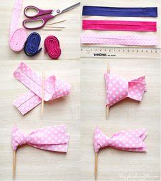 DIY comment fabriquer des toppers en tissu
