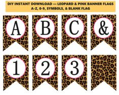 Leopard Print Banner, Leopard Hot Pink Baby Shower Banner, Printable Cheetah Party Supplies, DIY Animal Print Banner, A-Z -Printables 4 Less Superhero Centerpiece, Superhero Party Decorations, Superhero Party Supplies, Diy Party Supplies, Baby Banners, Shower Banners, Printable Banner, Printables, Cheetah Party