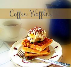 Coffee Waffles for breakfast or top with ice cream for dessert! sewlicioushomedecor.com