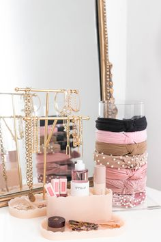 The Best & Prettiest Vanity Organizers - Money Can Buy Lipstick Pretty Vanity Organizers, Vanity Organizer, Makeup Organizer, Makeup Organization, Organizational Products Rangement Makeup, Makeup Storage Organization, Organization Ideas, Storage Organizers, Cute Room Decor, Glam Room, Aesthetic Room Decor, Nordstrom Anniversary Sale, Dream Rooms