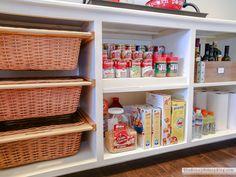 My Organized Pantry Organized Pantry (Sunny Side Up), Pantry Closet Organization, Pot Lid Organization, Lid Organizer, Pantry Shelving, Organizers, Organized Pantry, Pantry Room, Shelving Ideas, Kitchen Pantry Design