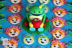 Umizoomi cake and cupcake toppers by Sugar High Inc.