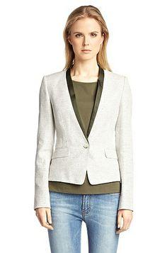 Blazer 'Arosa' in linen blend, Khaki
