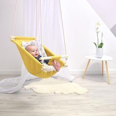 This article is not available - Byel calm baby swing mustard indoor swing - Baby Bedroom, Baby Room Decor, Nursery Decor, Baby Toys, Baby Shower Gifts, Baby Gifts, First Birthday Presents, Blog Bebe, Bedroom Decor