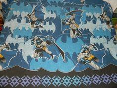 DC Comics BATMAN twin Flat sheet / fabric Blue