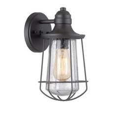 Perfect style combo- Vintage/Coastal Outdoor Wall Lantern.. Portfolio Valdara 11.5-in H Mystic Black Outdoor Wall Light