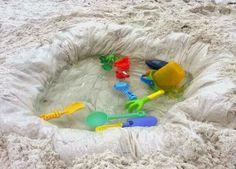 Make a mini pool at the beach.