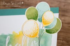 Stampin' Up! neues Stempelset Frühjahrskatalog Occasions 2016 Partyballons und emboss resist - Technik #GDP016