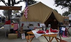 Catalott On The Road: Vintage Camping - Pismo Beach Style Tent Trailer Camping, Rv Travel Trailers, Tent Trailers, Niagara Falls Camping, Camping In North Carolina, Pismo Beach, Camping Activities, Outdoor Activities, Rv Parks