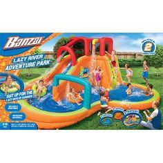 Banzai Water Slide, Backyard Water Parks, Backyard Patio, Splash Water Park, Lazy River Pool, Inflatable Water Park, Water Party, Dream Pools, Water Toys